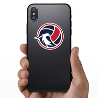 Elegant Eagle And Volleyball Sticker