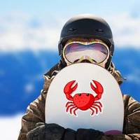 Crab With Large Claws Cartoon Sticker