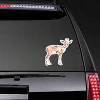 Antelope Animal In Flowers Watercolor Sticker
