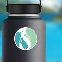 Mermaid Logo Design Sticker on a Water Bottle example