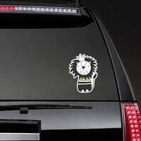 Kids Art Lion Sticker on a Rear Car Window example