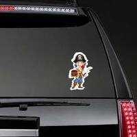 Cute Pirate Boy With Red Parrot Sticker on a Rear Car Window example