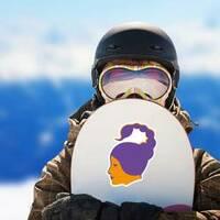 Scorpio Zodiac Sticker on a Snowboard example