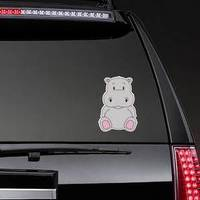 Cute And Adorable Hippo Character Sticker