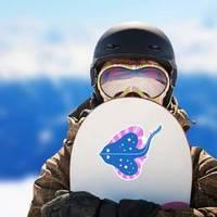 Stingray Illustration For Kids Pink And Blue Sticker