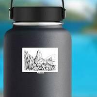 Garden Of Gods Colorado Sketch Sticker on a Water Bottle example