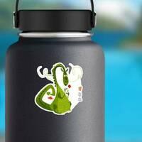Diada de Sant Jordi Dragon Sticker on a Water Bottle example