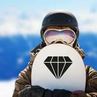 Trendy Flat Diamond Sticker on a Snowboard example