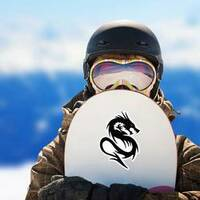 Fighting Black Dragon With Red Eyes on a Snowboard example