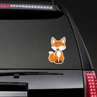 Fox Cartoon Sticker on a Rear Car Window example