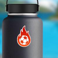 Flaming Soccer Sticker