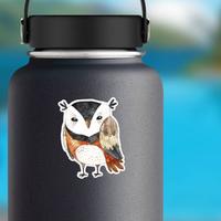 Funny Watercolor Owl Sticker