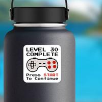 Gamer 30th Birthday Sticker