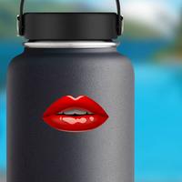 Glossy Female Red Lips Sticker