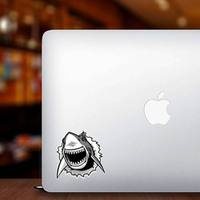Great White Shark Ripping Threw Sticker