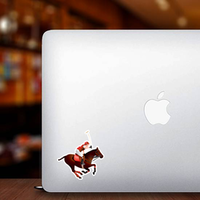 Horse And Polo Player Sticker