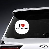 I Heart Volleyball Ballheart Sticker