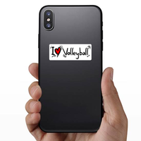 I Heart Volleyball Sticker