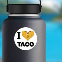 I Love Taco Sticker