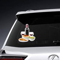 Italian Food And Wine Sticker