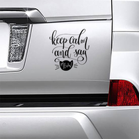 Keep Calm And Say Meow Sticker