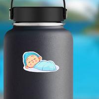 Newborn Sleeping Baby Boy Sticker