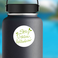 Ocean Pollution Sticker