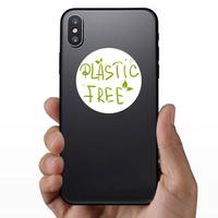 Plastic Free Hand Drawn Sticker