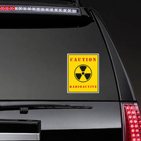 Radioactive Caution Poster Nuclear Radiation Warning Sign Sticker