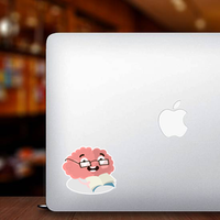 Reading Brain With Glasses Sticker