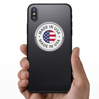 Round Made In USA Sticker