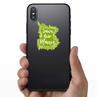 Save Our Planet Surrounded By Plants