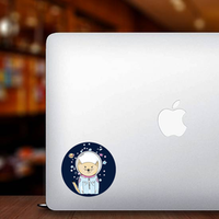 Space Cat Astronaut Sticker
