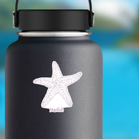 Starfish, Ink Sea Star Hand Drawn Sticker