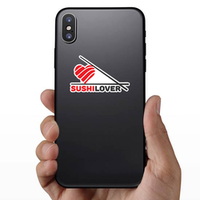 Sushi Lover Heart And Chopsticks Sticker