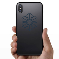 Symmetrical Hibiscus Icon Sticker
