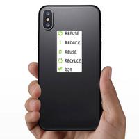 The 5 R's Of Zero Waste Living Sticker