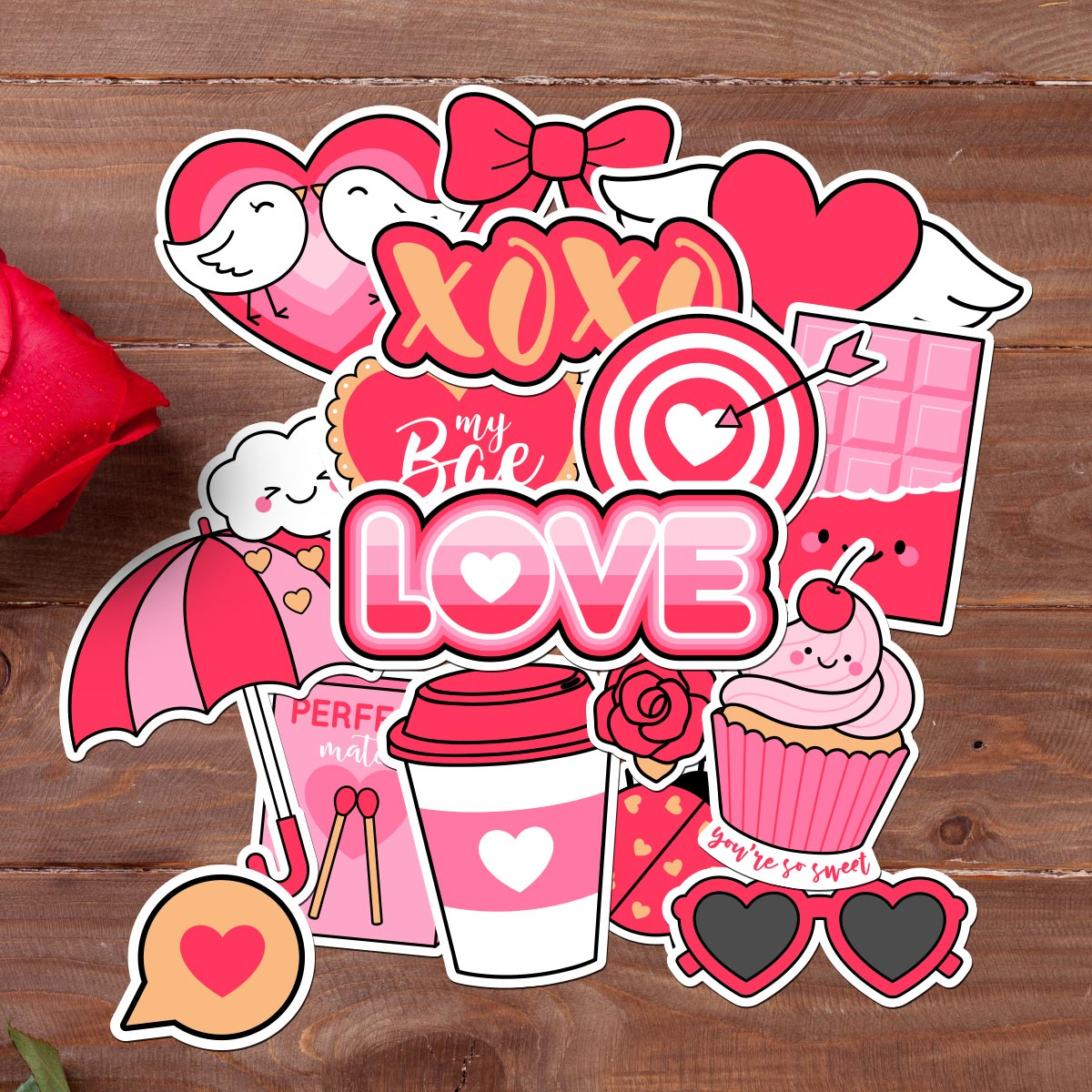 Love Is In The Air - Valentines Day Sticker Bundle
