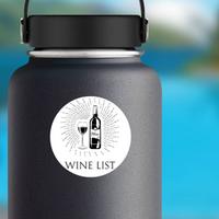 Wine List Bottle And Glass Sticker