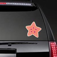 Yellow Line Starfish Sticker