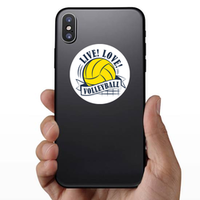 Yellow Volleyball Live Love Sticker