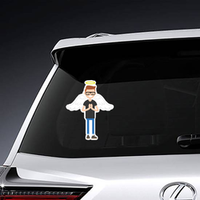 Young Man with Angel Wings Sticker