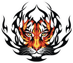 Tiger Flames Sticker