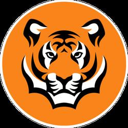 Tiger Head Circle Sticker