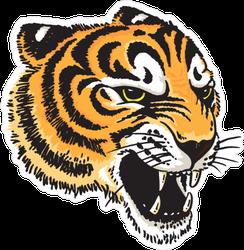 Tiger Head Illustration Sticker