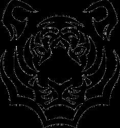 Tiger Head Sticker