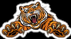 Tiger Jumping Sticker