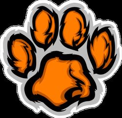 Tiger Paw Mascot Sticker