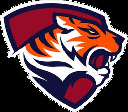 Tiger Shield Mascot Sticker