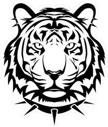 Tiger with Spike Leash Sticker